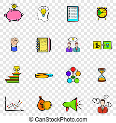 Business planning set icons