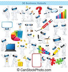 business, pleinement, scalable, vecteur, 3d, homme