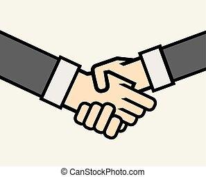 business, poignée main