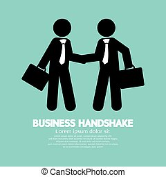 business, poignée main, vecteur, symbole, illustration