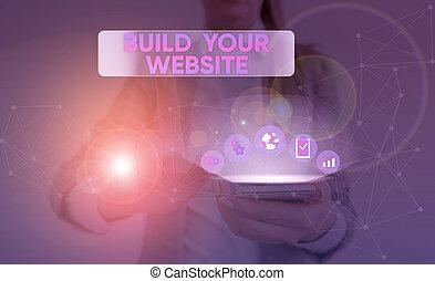 business pojem, dílo, tvůj, stavět, text, systém, website., ecommerce, obchod, business., seřízení, vzkaz