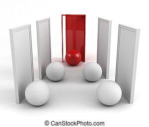 business pojem, dveře, success., zdar