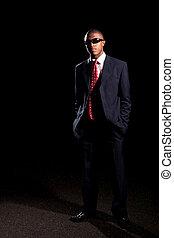 business, porter, élégant, homme, nuances