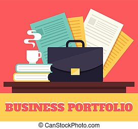 Business portfolio. Vector flat illustration