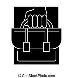 business portfolio icon, vector illustration, sign on isolated background