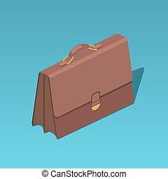 Business portfolio isometric vector illustration