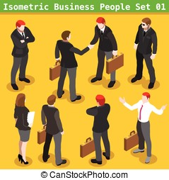 Business Poses 01 People Isometric - Modern Business...