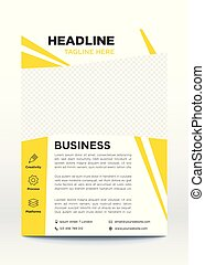 Business poster template, flyer, brochure design layout