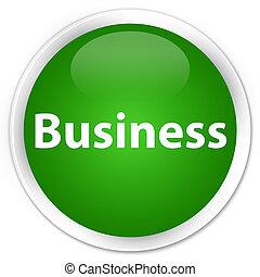 Business premium green round button