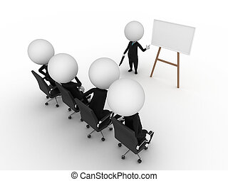 business presentation - a 3d rendered illustration of a ...