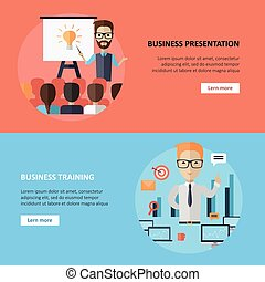 Business Presentation and Training Banner.