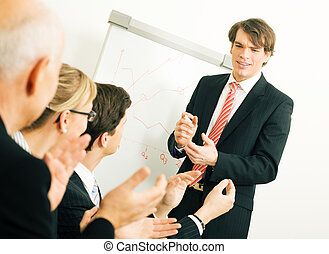 Business presentation: applause