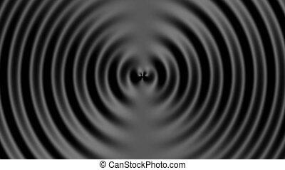 Business presentation Black ring liquid concentric ripples ...