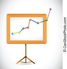 business presentation board illustration design