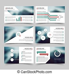 Business presentation corporate marketing report vector templates with diagrams and charts infographics elements