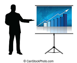 Corporate training in an office screen. Available vector file.