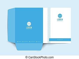 Business presentation folder for files, design.