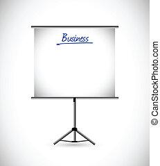 business presentation illustration design over a white ...