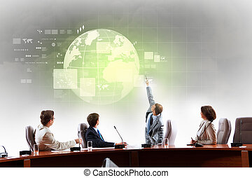 Business presentation - Image of businesspeople at ...