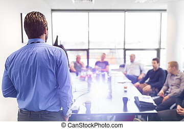 Business presentation on corporate meeting. - Business man ...