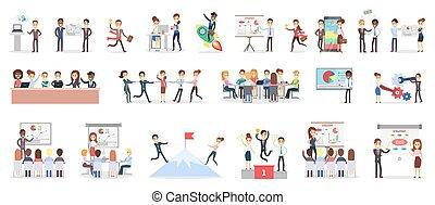Business presentation set.