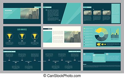 Business presentation template. Magazine pages or slideshow...