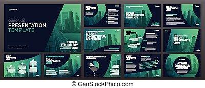 Business presentation templates set. Use for presentation...