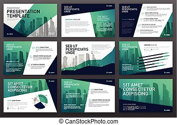 Business presentation templates with infographic elements....