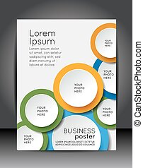 business, presentations., illustration, vecteur, conception, fond, brochure, ton, gabarit