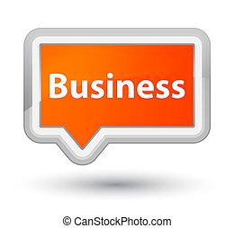 Business prime orange banner button