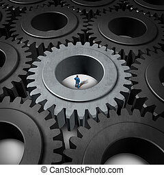 Business Prison Concept - Business prison concept or...