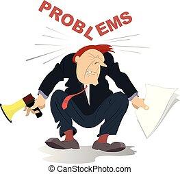 Business problems concept illustration