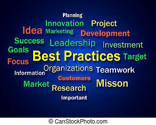 business, procédures, pratiques, optimum, idée génie, mieux...