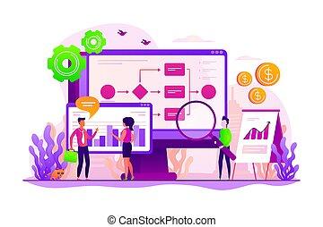 Business process automation concept vector illustration