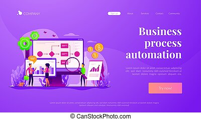 Business process automation landing page template