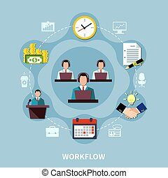 Business Process Circle Composition