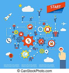 business process - Start business process diagram...