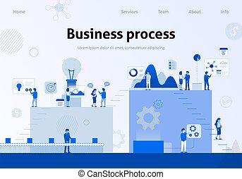 Business Process Efficiency Team Metaphor Banner