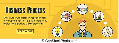 Business process horizontal banner