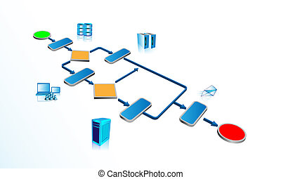 Business process infographics - Illustration of business...