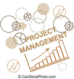 business, process., planification projet, fond, abstraction., gestion