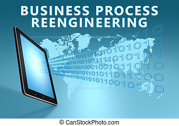 Business Process Reengineering illustration with tablet ...