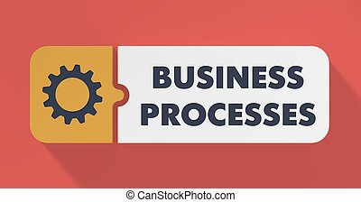 Business Processes Concept in Flat Design. - Business ...