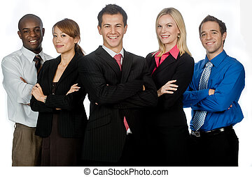 Business Professionals - A group of young, attractive and ...