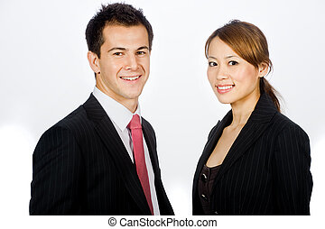 Business Professionals - An attractive caucasian businessman...