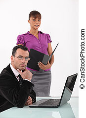 Business professionals at work