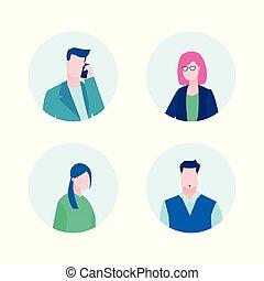 Business profiles - flat design style illustration