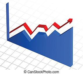 business, profit, graphique, diagramme, croissance, vecteur