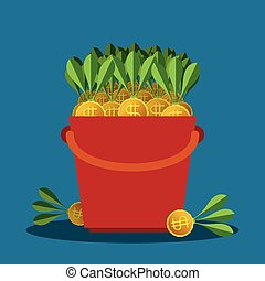 Business profit vector concept in flat style