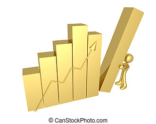 Business Progress - Metaphor of a successful business.